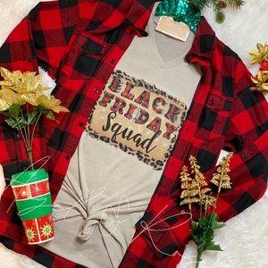 🖤♥️ Black Friday Squad Buffalo Plaid Tee Shirt